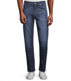 7 For All Mankind Blue Slimmy Squiggle Straight Jeans