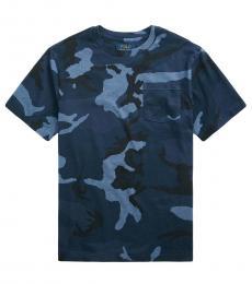 Ralph Lauren Boys Blue Surplus Camo Jersey T-shirt