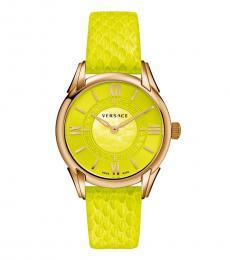 Versace Lime Green Dafne Logo Watch