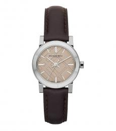 Burberry Brown Silver The City Watch
