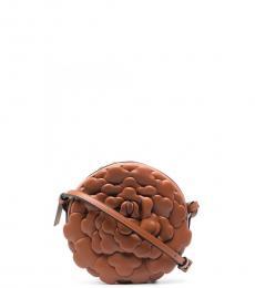 Valentino Garavani Brown Rose Atelier Small Crossbody Bag
