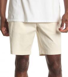 Michael Kors Beige Washed Semi-Stretch Shorts