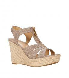 Michael Kors Truffle Signature Berkley Wedges