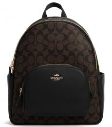 Coach Dark Brown Court Large Backpack