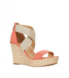 Michael Kors Pink Grapefruit Prue Wedges