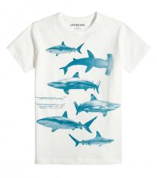 J.Crew Boys White Graphic T-Shirt