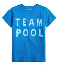 J.Crew Boys Electric Blue Graphic T-Shirt