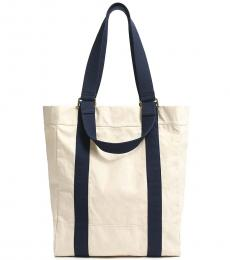 Navy Natural Classic Tote