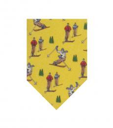 Ralph Lauren Yellow Skiing Tie