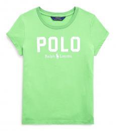 Ralph Lauren Girls Green Jersey T-Shirt