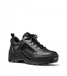 Michael Kors Black Brooke Leather Sneakers