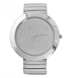 Silver Oversize Stainless Steel Watch