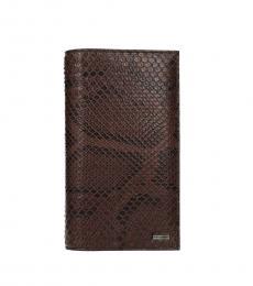 Dolce & Gabbana Brown Skin Printed Wallet