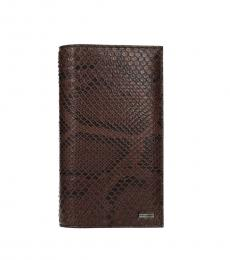 Dolce & Gabbana Brown Skin Printed Wallet