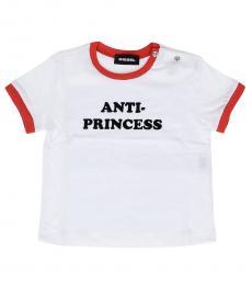 Diesel Baby Girls White Anti-Princess T-Shirt