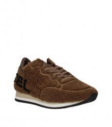 Brown Etoile Fur Sneakers