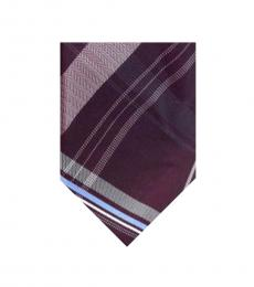 Michael Kors Purple Classic Check Tie