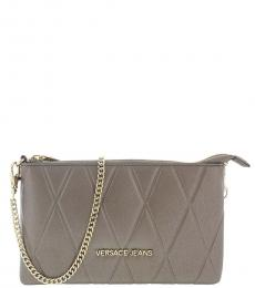 Versace Jeans Metal Diamond Quilt Small Shoulder Bag