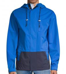 DKNY Imperial Blue Colorblock Hooded Jacket