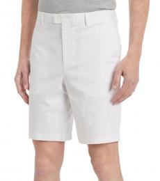 Calvin Klein White Classic-Fit Chino Shorts