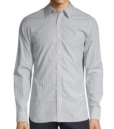 Black White Extra-Fine Pinstripe Shirt