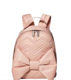 Betsey Johnson Blush Big Bow Small Backpack