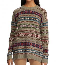 Ralph Lauren Beige Fair Isle Cotton-Blend Sweater
