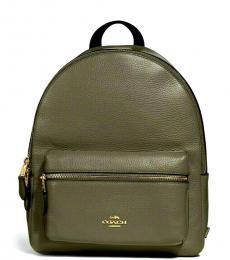 Coach Military Green Charlie Medium Backpack