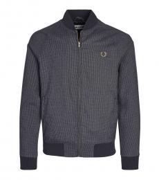 Fred Perry Dark Grey Logo Zipper Jacket
