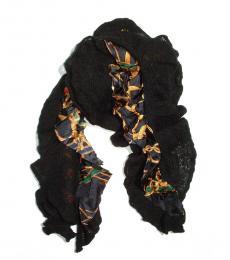 Black Bridle Ruffle Scarf