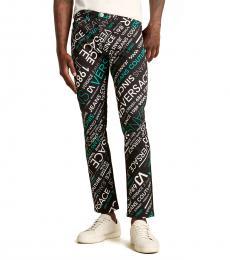 Versace Jeans Black Graphic Diagonal Logo Jeans