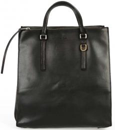 Black Edith Belt Large Tote