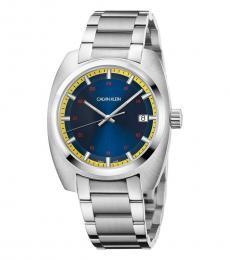Calvin Klein Silver Achiev Blue Dial Watch