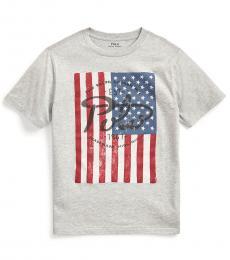 Boys Andover Heather Flag T-Shirt