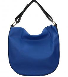 Marni Electric Blue Solid Large Hobo