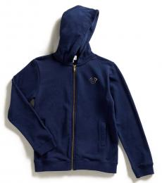 True Religion Boys Blue Foil Logo Long Sleeve Hoodie