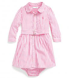 Ralph Lauren Baby Girls Pink Shirtdress