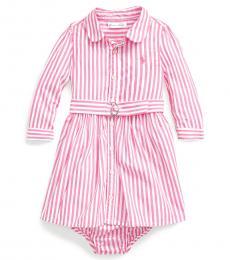 Ralph Lauren Baby Girls Pink Shirtdress