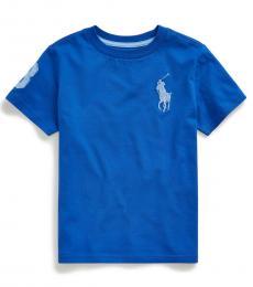 Little Boys Travel Blue Big Pony T-Shirt