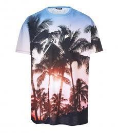 Light Blue Beach Evening T-Shirt
