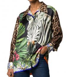 Dolce & Gabbana Multi color Safari Print Long-Sleeved Shirt