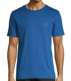 Blue Logo Cotton T-Shirt