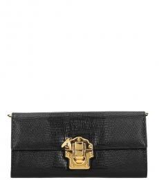 Black Pushlock Wallet