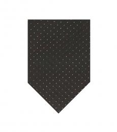Calvin Klein Black Holographic Dot Tie