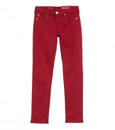 1 Year White Red Prima Ankle Slim Fit Jeans