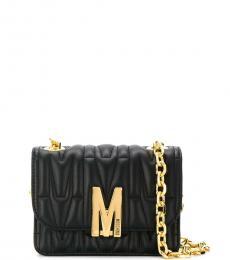 Moschino Black Logo Small Shoulder Bag