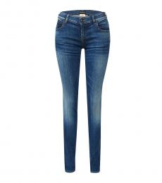 Blue Gold Detail Jeans