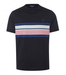 Fred Perry Black Stripe Logo T-Shirt
