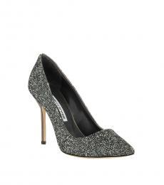 Manolo blahnik Grey Rock Crystal Heels