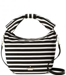 Kate Spade Black White Haring Lane Jeny Small Hobo